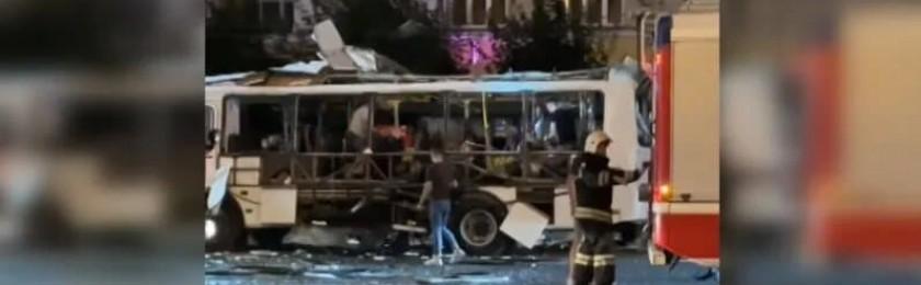 Взрыв в автобусе в центре Воронежа. Подробности